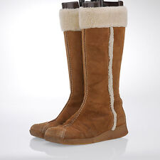 Unbranded Suede Wedge Knee High Boots for Women