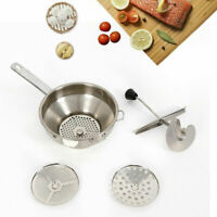 Vegetable Stainless Steel Food Mill Masher Strainer with 3 Milling Discs USA