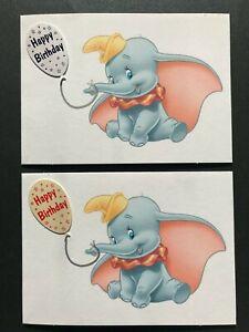 Dumbo birthday card with envelope blank inside (landscape orientation)