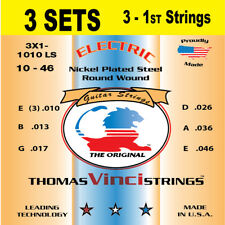 3 SETS Vinci 10-46 with 3-1st strings Nickel Plated Electric Guitar Strings
