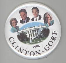 BILL CLINTON Al Gore Political BUTTON Pinback HILLARY Tipper PRESIDENT Pin BADGE