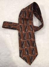 Men's Tie Brown Abstract Robert Bradford For Erday's Geneva IL Classic Necktie