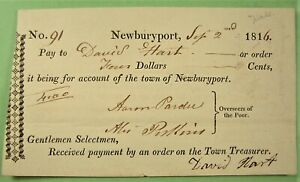 Warrant, Newburyport, Mass. 1816, Overseers of the Poor.