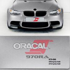 ( 15,10€/m ²) Oracal 970ra GRIS PLATA MATE Metálico 090 Película Auto