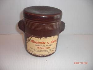 pot a moutarde ancien en grès TEMERAIRE DIJON