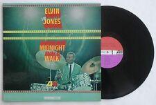 Elvin Jones Jazz LP Record Midnight Walk Atlantic 1485 Hank Mobley Dollar Brand