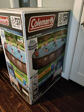 """New listing Coleman Deluxe Series 18ft 18'x48"""" Above Ground Swimming Pool with Pump In Hand"""