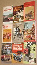 Lot of 9~HOT ROD & CAR RACING PAPERBACKS~Vintage 1950's-60's HENRY GREGOR FELSEN