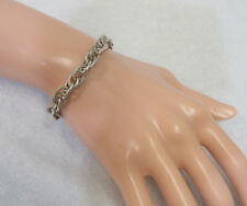 Sterling Silver Chain Bracelet Triple Linked 22 Grams Toggle Clasp Jewelry
