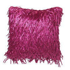 Zeta Candy Fuchsia Tassels Square Filled Cushion - Ultima Logan and Mason