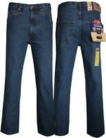 New Men's Basic Heavy Duty Cotton Regular Classic Fit Straight Leg Denim Jeans