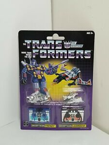NEW Walmart Reissue Transformers G1 Cassettes Frenzy, Laserbeak Figures