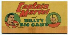 Captain Marvel And Billy's Big Game PROMOTIONAL COMIC 1948 VF-
