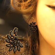 Gold Clip On Earrings Dangle Drop Crystal Non Pierced Fake Pearl Ear Jewellery