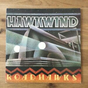 HAWKWIND ROADHAWKS - 1ST PRESS A3U/B2U WITH POSTER AND UNUSED STICKER EX/EX 33