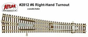 Atlas 2812 Z Scale Right Hand Turnout (Switch) Manual Track Section *NEW