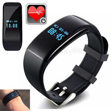 LED Display Bluetooth Smart Bracelet Heart Rate Monitor For Samsung Huawei LG