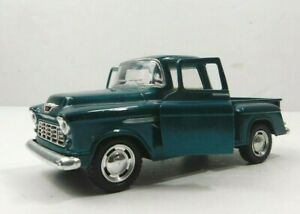 Kinsmart 1955 Green Chevy Step Side Truck 1:32 Scale Diecast Pull Back Classic