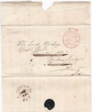 # 1823 FAKENHAM & NORWICH PMKS FREE LETTER > LORD BISHOP FORDINGBRIDGE HAMPSHIRE