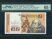 Ireland Republic:P-71e,5 Pounds,1991 * John Scotus Eriugena * PMG GEM UNC 65 EPQ