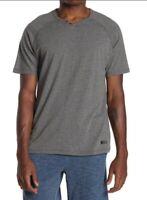 Joe's Jeans Men Raglan Sleeve T-Shirt Heather Charcoal