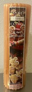 """Yankee Candle Gingerbread Ionic Pillar Candle 3"""" X 9"""" Sealed Vintage - FREE SHIP"""