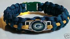 Green Bay Packers Green & Gold Handmade Paracord Bracelet, Lanyard or Key Chain