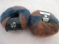 lana grossa silkhair Stampa 50g FINE MOHAIR fb. 339 Rame Jeans Blu