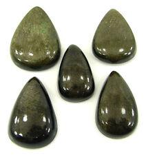 76.10 CT Naturel Doré Obsidienne Desseré Gemme Cabochon Lot De 5 Pcs Cab- 28923