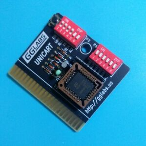 GGLABS UNICART Commodore 64/128 universal cartridge with 512KB PLCC32 flash chip