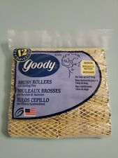 Vintage Goody 82465 Brush Rollers Bag of 12 Medium Yellow NOS with Holding Pins