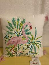 "Whim by Martha Stewart Flirty Flamingo Graphic-Print 18"" Decorative Pillow Pink"