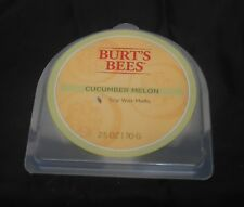 "Burt'S Bees Soy Wax Melts ""Cucumber Melon"" 2.5oz. Holder W/6 Melts, Fresh Aroma!"
