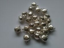 25 x 12mm Jingle Bells Silver
