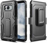 For Galaxy S8 / Galaxy S8 Plus Case, Armor Hybrid Kickstand Case with Belt Clip