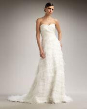 Tadashi Shoji Strapless Tiered Ruffle Chiffon Strapless Wedding Gown Dress $1825