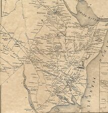 Wall Spring Lake Manasquan New Bedford NJ 1873  Map with  Homeowners Names Shown