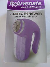 Rejuvenate Electric Fabric Renewer Pill and Fuzz Shaver Purple- NEW in box