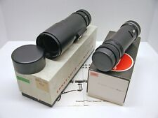 LEICA LEITZ 400MM F6.8 TELYT R MOUNT LENS..APPEARS UNUSED..CAPS..BOXES