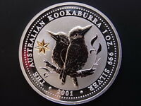 Australia. 2001  1oz - Silver Kookaburra.. Federation Star Privy mark.. BU..
