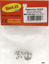 SLOT IT SIWH1183MG 3/32 MAGNESIUM WHEELS 15.8X8mm NEW 1/32 SLOT CAR PART