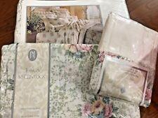 Nip Jessica McClintock Full Sheet Set Flat Fitted 2 Pillowcase Cameo Lace Floral