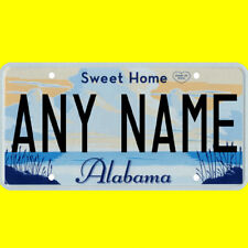 Bicycle license plate - Alabama design, new custom personalized, any name