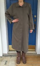 London Fog M/L Raincoat Removable Lining Grayish Green 80s Vintage