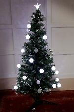 Green 150CM (5FT) Fibre Optic Christmas Tree With 28 Colour Changing Led Balls