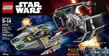 Lego 75150 de Vader's Tie Advanced Vs A-wing Starfighter-Star Wars-Disney-Nuevo