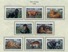 SIERRA LEONE   MNH  1647-56   Wild Animals  XF451