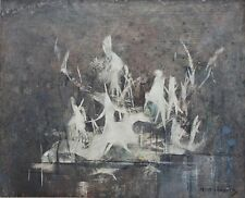 PETER HAWORTH-UK/Canadian Expressionist-Original Signed Oil-Abstract Animals
