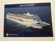 ms Msc Sinfonia . Mediterranean Shipping Co. Italy Cruise Ship Liner Boat Italia