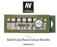 Vallejo VAL70108 Modello Colore Set Pittura - Panzer Colori (8 x 17ml Bottiglie)